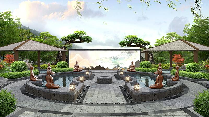 温泉旅游景区景观设计
