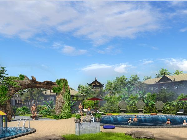 建造施工 温泉景观